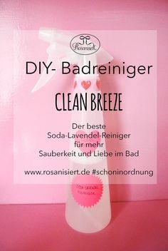 DIY Putzmittel: Wünschst du dir auch mehr Sauberkeit und einen tollen Duft im Bad? Dann ist dieser DIY-Badreiniger mit Natron und Lavendel genau das Richtige für dich. Auf Rosanisiert erfährst du, wie du Putzmittel selber machen kannst.