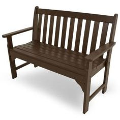 POLYWOOD Vineyard Mahogany 48 in. Patio Bench-GNB48MA at The Home Depot