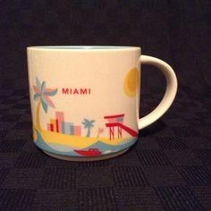 Starbucks 2015 You Are Here Collection Miami Flrida Coffee Cup Mug Colorful #Starbucks