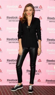 Wow, hot hot does Miranda Kerr look in leather? See more hot style on Wonderwall: http://on-msn.com/1fGYBDV