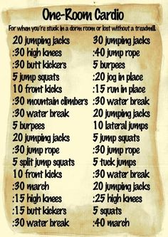 One-Room Cardio! Love this workout!