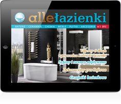 """""""allełazienki"""" to pierwsza tabletowa edycja magazynu poświęconego aranżacji i wyposażeniu łazienek. Wydawca: Studio 2000, Wersja iOS."""