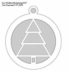 Christmas Tree Ornament - Christmas - User Gallery & Pattern Library - Scroll Saw Village