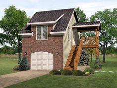 Garage Plan 45117 |  Plan with 598 Sq. Ft., 1 Bedrooms, 1 Bathrooms, 1 Car Garage