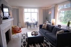 Pacific Heights Apartment - eclectic - living room - san francisco - Jessica Uppal