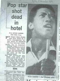 The mysterious death of Sam Cooke Black History Facts, Black History Month, Soul Music, Music Icon, Black Celebrities, Pop Singers, African American History, Black Power, My People