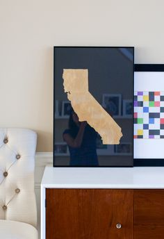 DIY Golden State Poster / Ambrosia Girl