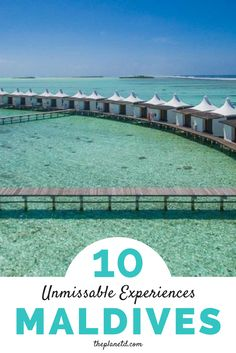 Maldives is the picture ofparadise.With luxury bungalows extendingover turquoise waters inviting you to jump in for a swim, sandy beaches and pure luxury, Maldives is adream destination. This guide includes ten of the best things to do in the Maldives from pristine scuba diving and snorkeling to island hopping to dolphin spotting and beyond.   Blog by the Planet D #Maldives #Travel