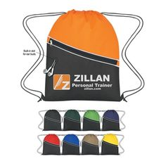 Non-Woven Two-Tone Promo Drawstring Backpack - 13.5