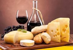Still Life Composition With Traditional Food And Wine Royalty Free Stock Photo, Pictures, Images And Stock Photography. Good Foods To Eat, Healthy Foods To Eat, Healthy Snacks, Queso Camembert, Grapes And Cheese, Fromage Cheese, Cheese Bread, Cheese Food, Gastronomia