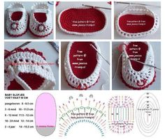 Crochet Slippers - Chart ❥ 4U // hf