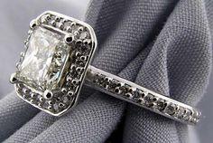 Custom Princess Cut Diamond Engagement Ring #imagesjewelers #customjewelry #engagementring #diamond