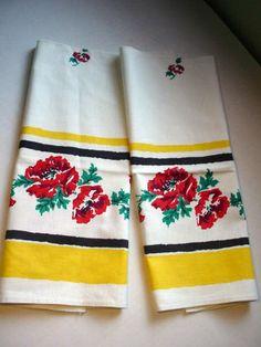 Startex kitchen towels..... I'm thinking curtains