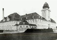 Einweihung des Hallenschwimmbads in Darmstadt, 1. Juli 1909