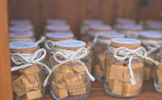 Favor simples do casamento com Dulce de Leche - Andy - Vintage Wedding Favors, Wedding Favors Cheap, Wedding Reception Decorations, Wedding Favours, Wedding Bouquets, Rustic Wedding, Wedding Gifts, Wedding Invitations, Wedding Ideas