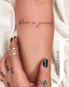 Dainty Tattoos, Pretty Tattoos, Mini Tattoos, Unique Tattoos, Delicate Tattoo Fonts, Cute Tattoos For Women, Tiny Tattoos For Girls, Cute Small Tattoos, Small Quote Tattoos