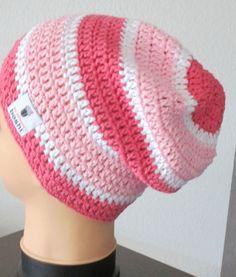 my boshi Häkelmütze,my boshi WolleNr2 Label Mütze Beanie Sommer,rose-weiß,NEU***
