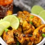 Baked Sriracha Lime Chicken Wings - made with sriracha and fresh lime, these wings make the recipe for your next game day or everyday dinner!
