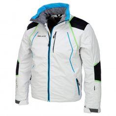 Diel, Sportliche Skijacke Herren, kurzes Modell, weiß-blau-grün