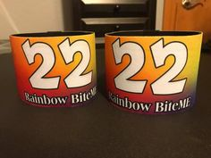 Custom Roller Derby Arm Bands   Armbands  Rainbow derby armbands with derby name and number