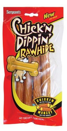 Chick'n Dippin' Rawhide Munchy Sticks, 4-Count >>> You can get more details by clicking on the image. (This is an affiliate link and I receive a commission for the sales)
