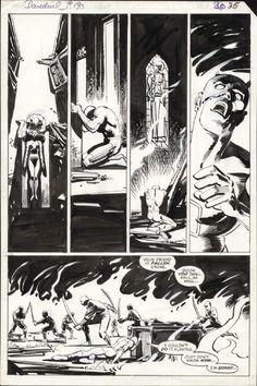 Daredevil 190 pg 30 Frank Miller Klaus Janson Elektra Comic Art