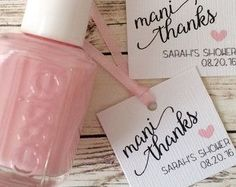 Bridal Shower Nail Polish Favors - Bridal Shower Nail Polish Favors by RosiesDesignShop on Etsy