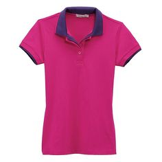 Contrast Double Collar Jersey Polo (Women's)Free Shipping at VANCL