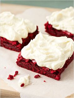 Red Velvet Brownies and other red velvet recipes