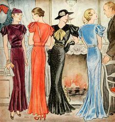 McCall's Pattern, 1933; via myvintagevogue: