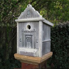 Griffith Creek Designs 1403 Heart & Eagle San Luis Rey Mission Birdhouse - Outdoor Living Showroom