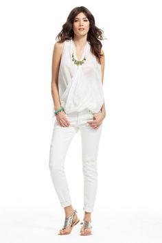 Nydia Cotton/Silk Blouse, Calypso