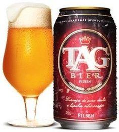 Cerveja Tag Bier Pilsen, estilo Premium American Lager, produzida por Cervejaria Premium, Brasil. 4.5% ABV de álcool.