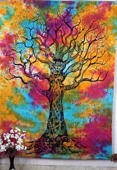 Indian Tree of life Tapestry Wall Hanging Hippie Bedspread Ethnic Throw Art