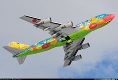 All Nippon Airways - ANA JA8956 Boeing 747-481D Pokemon aircraft picture