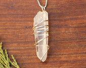 Lemurian Quartz Pendant, Lemurian Quartz Jewelry, Lemurian Seed Quartz, Quartz Pendant, Quartz Jewelry, Crystal Pendant, Crystal Jewelry
