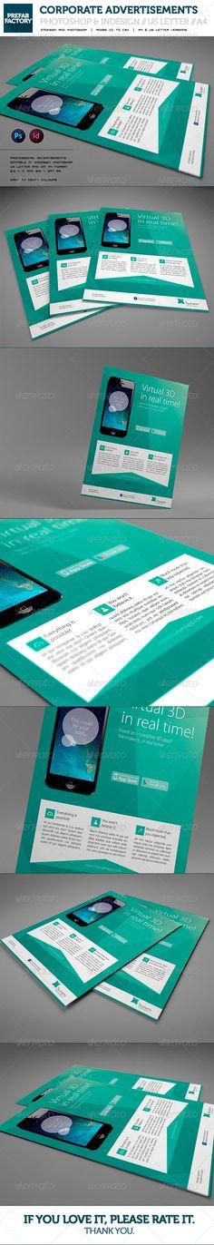 #Corporate #App Flyer / Advertisement / Multipurpose - Corporate #Flyers Download here: https://graphicriver.net/item/corporate-app-flyer-advertisement-multipurpose/5590309?ref=alena994