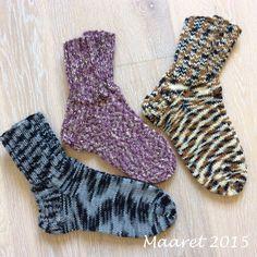 Muutamat villasukat Novitan 7 Veljestä langoista neuloin villasukkia, pari paria viidakkoa ja violettisävyiset Tweediä. Socks, Fashion, Moda, Fashion Styles, Sock, Fasion, Stockings, Ankle Socks, Hosiery