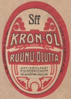 Ruunu-olutta, Kron-öl #Sinebrychoff #etiketit #olut #beer #labels