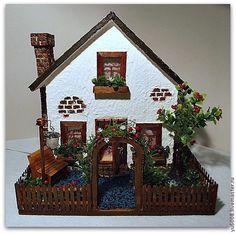 Кукольный дом ручной работы. Ярмарка Мастеров - ручная работа. Купить Мини домик. Миниатюра.. Handmade. Разноцветный, мини дом