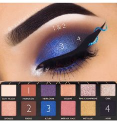 Bluesss Blue Makeup, Diy Makeup, Makeup Art, Beauty Makeup, Makeup Ideas, Makeup Goals, Makeup Inspo, Makeup Inspiration, Pigment Eyeshadow