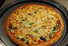 Healthy Veggie Pizza on Whole Wheat Crust.