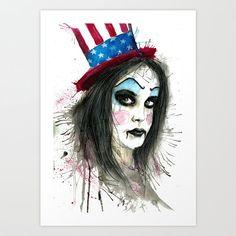 My Best Clown Suit art print Mrs. Captain by EyeScreamPaintShop
