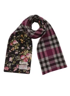 Lined Ladies Scarf In Pink Check