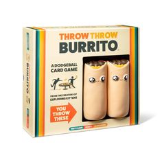 Throw Throw Burrito by Exploding Kittens - A Dodgeball Board Game - Family-Friendly Party Games - Board Games for Family and Kids in Card Games. Epic Games, Fun Games, Party Games, Games To Play, Lego Board Game, Board Games, Games For Teens, Adult Games, Exploding Kittens