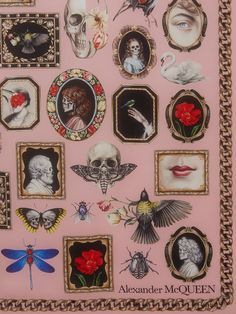 Shop Women's Curiosities Silk Shawl from the official online store of iconic fashion designer Alexander McQueen. Wall Collage, Wall Art, Art Nouveau, Gothic Home Decor, Gothic House, Macabre, Aesthetic Art, Art Inspo, Just In Case
