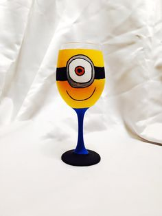 Minion from Despicable Me inspired Hand Painted by AWhimsicalHoot, $20.00