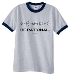 Rational Numbers | Math T-Shirts | Geek Shirts | Nerdy T-Shirts | Science Shirts | Equation T Shirts.