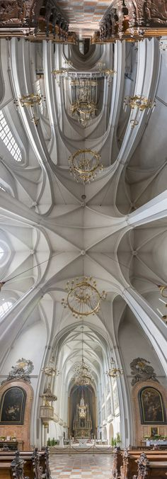 Church in Hallgrimskirkja, Iceland. Panorama Churches by Photographer Richard Silver