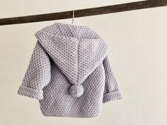 Snowball – Knitted Baby Jacket – FiftyFabulous - Knitting New Gestrickte Booties, Knitted Booties, Knitted Headband, Baby Cardigan Knitting Pattern, Baby Boy Knitting, Baby Knitting Patterns, Knitted Baby, Storch Baby, Stitch Ears